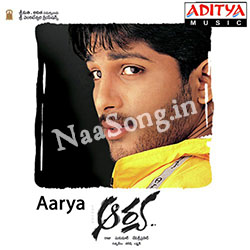 Aarya (2004) Telugu Movie Audio CD Front Covers, Posters, Pictures, Pics, Images, Photos, Wallpapers