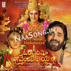 Om Namo Venkatesaya (2017) Telugu Movie Audio CD Front Covers, Posters, Pictures, Pics, Images, Photos, Wallpapers