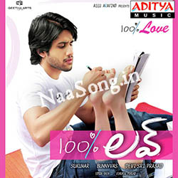 100% Love (2011) Telugu Movie Audio CD Front Covers, Posters, Pictures, Pics, Images, Photos, Wallpapers
